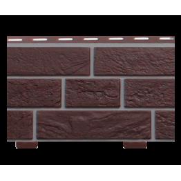 Стеновой сайдинг коллекции Кирпич серия Славянка коричневый