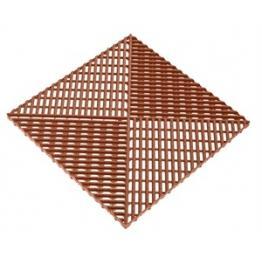 Газонная решетка с дополнительным обрамлением коричневая