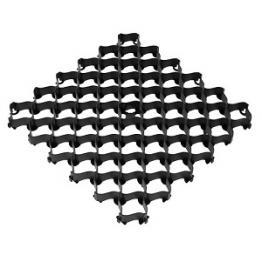 Усиленная газонная решетка с высоким профилем черная