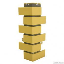 Наружный угол коллекции Клинкерный кирпич желтый
