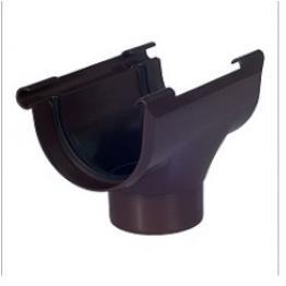 Воронка водосточная 95 мм Элит коричневая