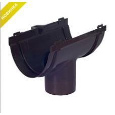 Воронка водосточная 74 мм Стандарт коричневая